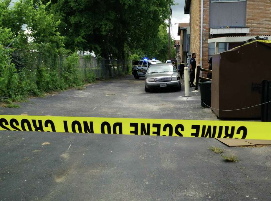 SAPD are investigating a shooting on Pecan Valley Drive which happened Tuesday June 16, 2015. Photo: Jacob Beltran