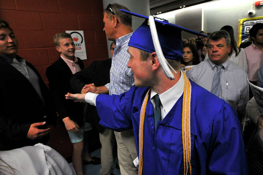 Scenes from the commencement ceremony at Darien High School in Darien, Conn., on Tuesday, June 16, 2015. Photo: Jason Rearick, Hearst Connecticut Media / Stamford Advocate