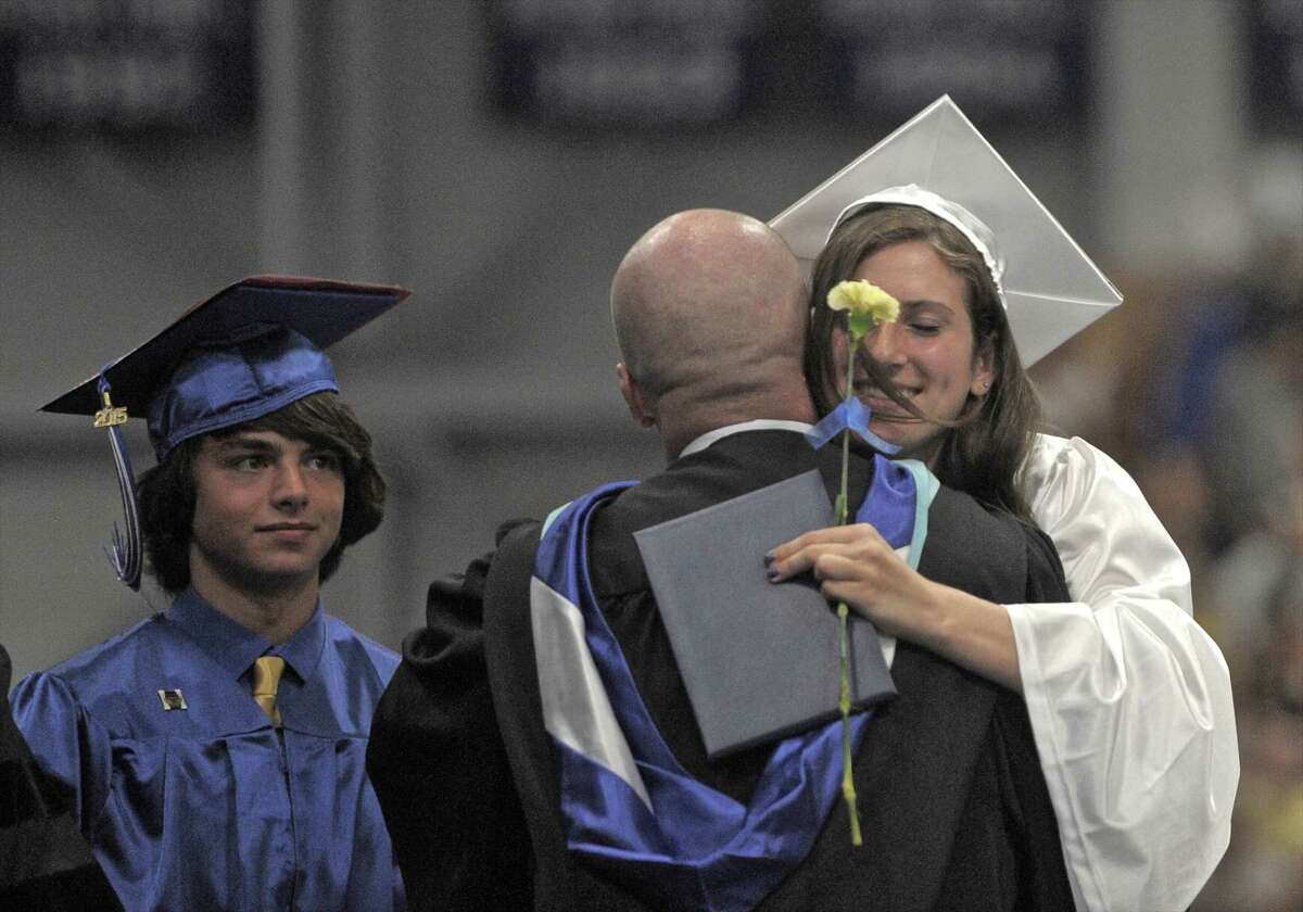 Photographs from the 2015 Commencement Exercises of Newtown High School, held in O'Neill Center at Western Connecticut State University, on Tuesday, June 16, 2015, in Danbury, Conn.