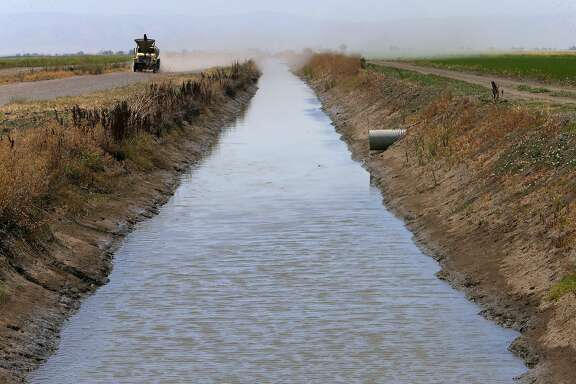 Irrigation canals on the Davis Ranches with water from the Sacramento River, in Colusa, Calif., as seen on Tues. June 16, 2015. The Davis Ranches in Colusa is one ranch with senior water rights dating back to 1919.