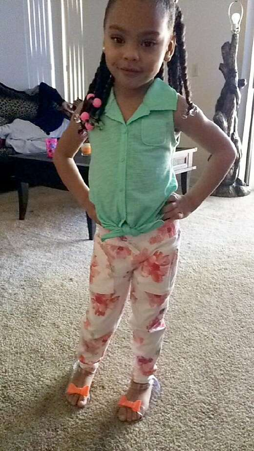 Tyanni Miller, 4, of Union City was shot in the chest after her father and other men fired paintball guns from their car, prompting someone to return fire, police say. Photo: Courtesy Of Chelsea Hunter