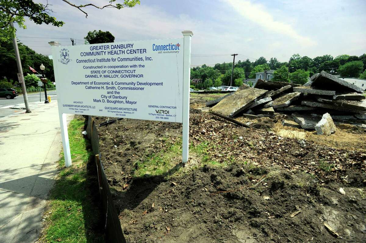 Construction is set to begin on Connecticut Institute for Communities new medical center on Main Stree in Danbury on the site of the old Danbury Police Department on Main Street. Photo Friday, June 12, 2015.