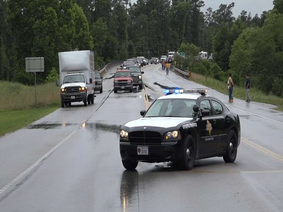 A 52-year-old Conroe man was killed June 16, 2015, in an accident on FM1485 near Peach Creek during heavy rain from Tropical Storm Bill.(Source: Montgomery County Police Reporter) Photo: Montgomery County Police Reporter