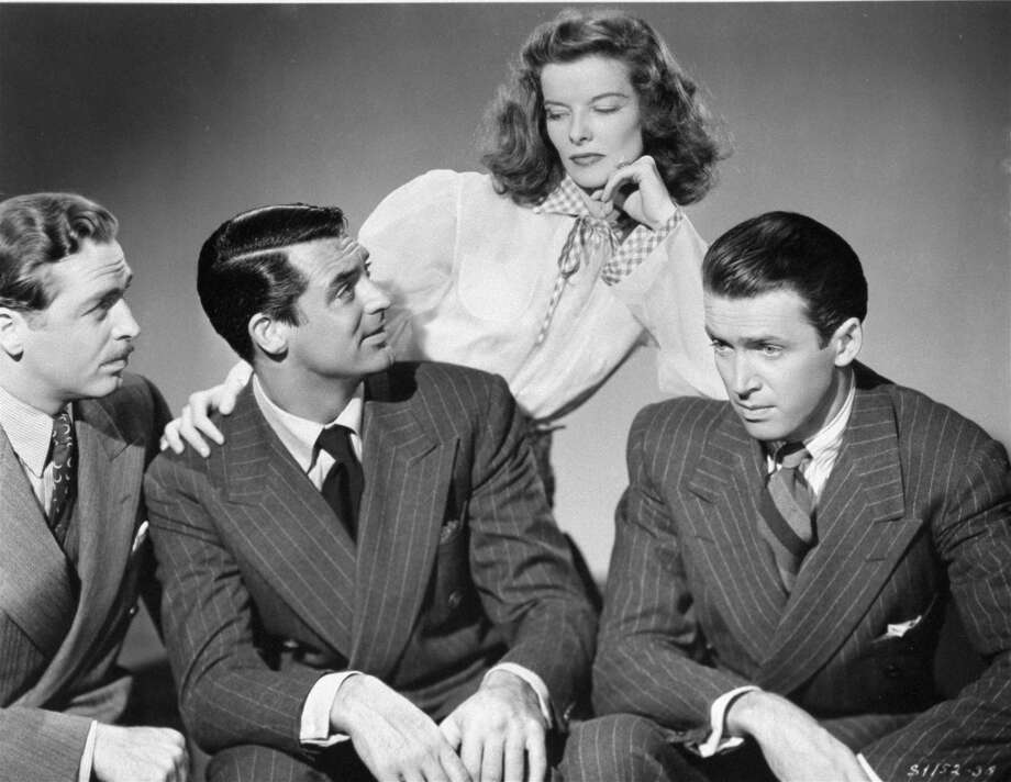 "Cary Grant, left, Katharine Hepburn and Jimmy Stewart star in ""The Philadelphia Story."" Photo: Anonymous, HONS / AP2005"