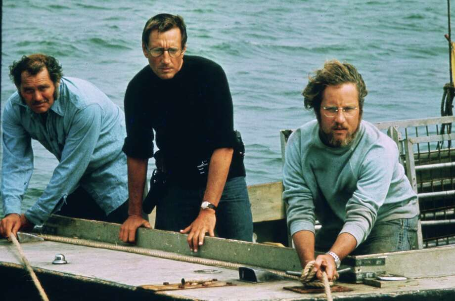 "JAWS --  L-R--Robert Shaw, Roy Scheider, Richard Dreyfuss.  HOUCHRON CAPTION (06/17/2005) SECSTAR COLORFRONT:  THE FINAL TEAM: Robert Shaw, left, Roy Scheider and Richard Dreyfuss were not the first choices for the roles in ""Jaws,"" but today can you imagine anyone else in those roles? / handout"
