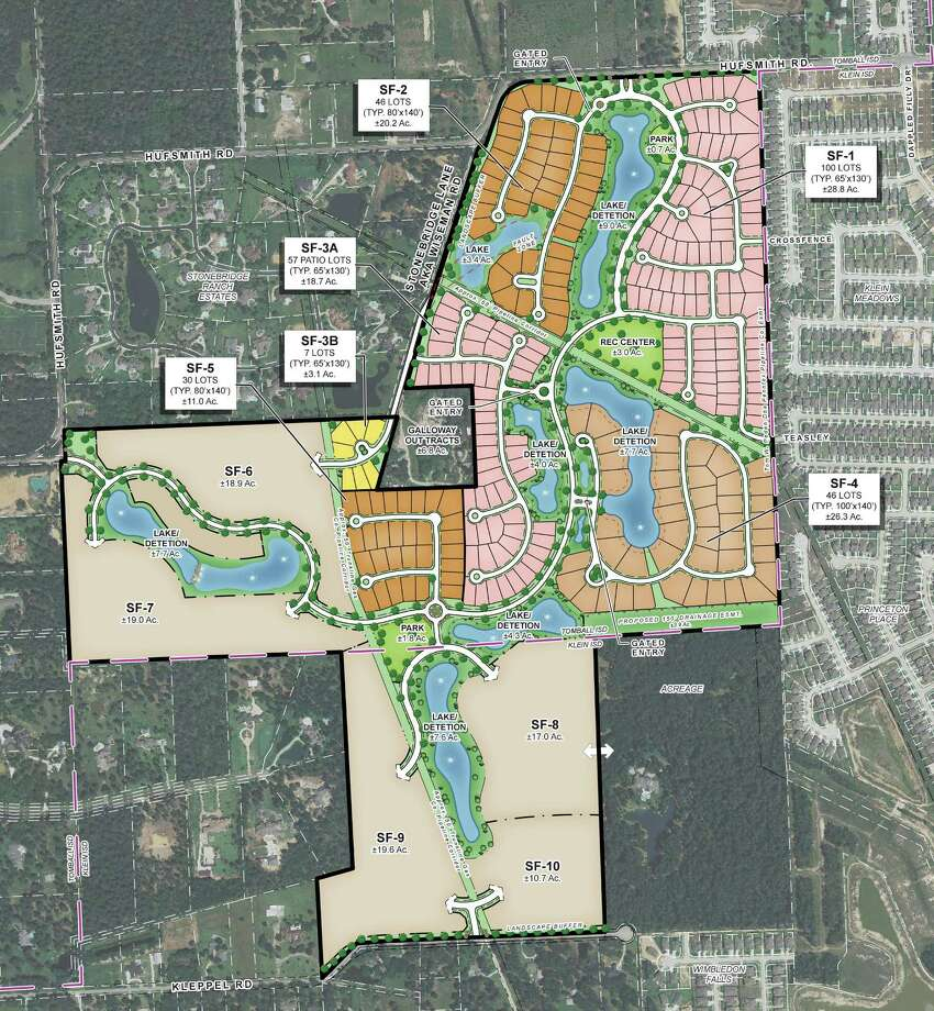 A developer is under way on a residential community near The Woodlands that's been designed for more than 600 homes - some with prices upwards of $1 million.  The project, Lakes at Creekside, is being developed near the southwest corner of Kuykendahl and Hufsmith, less than a mile south of the Creekside Park village in The Woodlands and six miles west of the Exxon Mobil campus at Interstate 45 and the Hardy Toll Road.