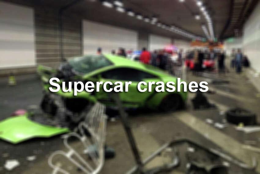 Supercar crashes that made headlines around the world.