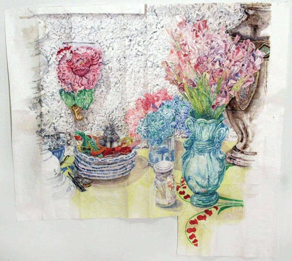 Paper Flowers, 2014, watercolor on paper (Courtesy John Davis Gallery)