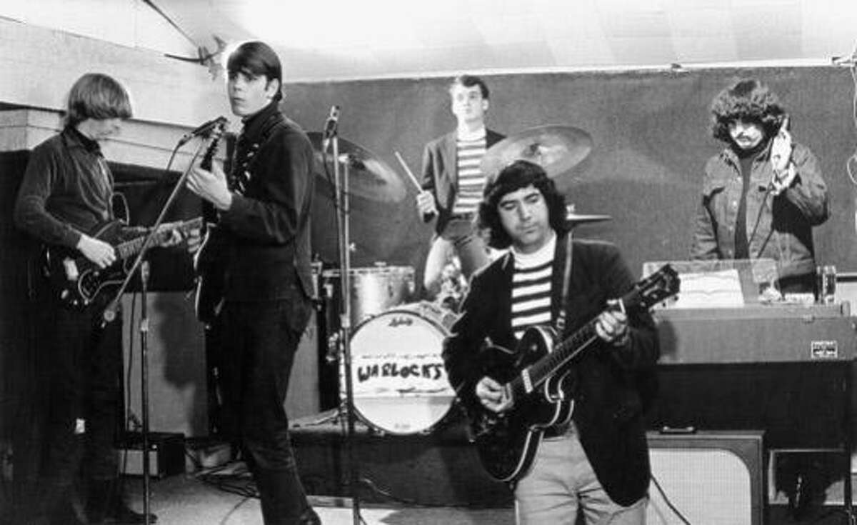 """""""The Warlocks,"""" who would later rename their band """"The Grateful Dead,"""" perform a show in 1965."""