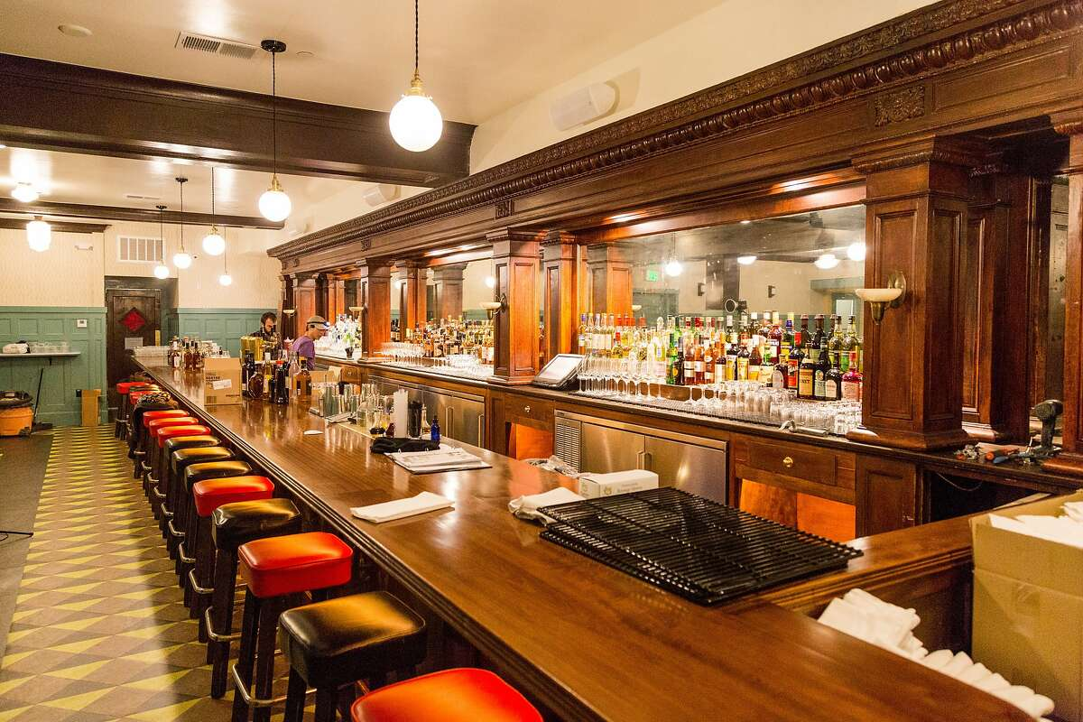The long subterranean bar that was restored at the newly renovated Cafe du Nord in San Francisco, Calif., Tuesday, June 16, 2015.