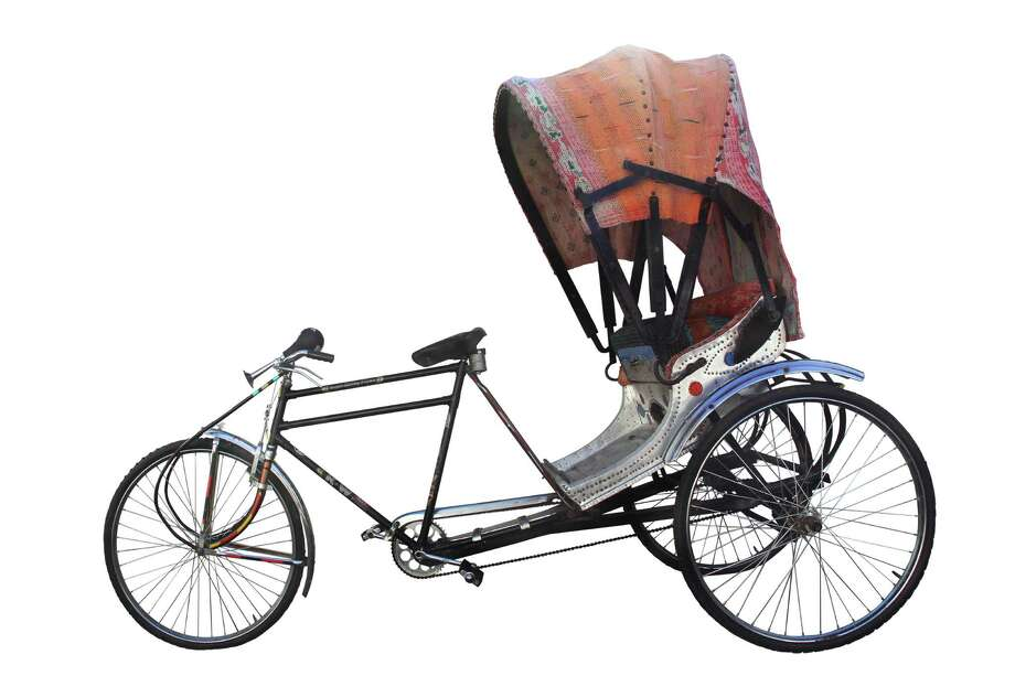 Indian rickshaw detailed with vintage cotton saris, $2,000, available from Mela & Roam at Vintique Flea