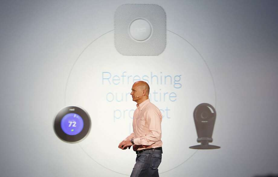 Tony Fadell, Nest CEO,  walks off the stage after speaking during a Nest press conference at Terra Gallery on Wednesday, June 17, 2015 in San Francisco, Calif. Photo: Santiago Mejia, The Chronicle