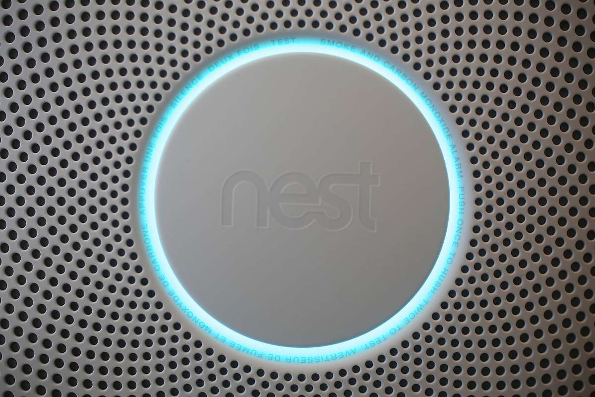 The new Nest Protect is displayed after a Nest press conference at Terra Gallery on Wednesday, June 17, 2015 in San Francisco, Calif.