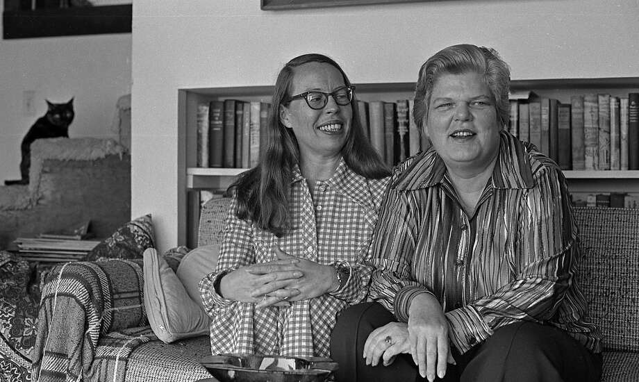 July 10, 1972: Phyllis Lyon and Del Martin at their San Francisco home. The lesbian authors and activists were the first gay couple married in San Francisco in 2004 and 2008. Photo: Clem Albers, The Chronicle
