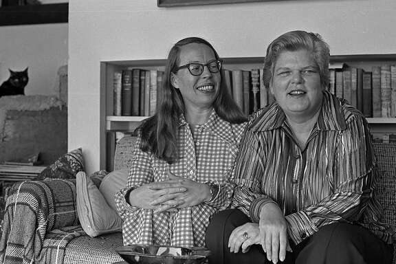 July 10, 1972: Phyllis Lyon and Del Martin at their San Francisco home. The lesbian authors and activists were the first gay couple married in San Francisco in 2004 and 2008.