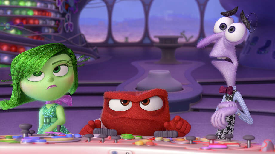 "Disgust, Anger and Fear (voiced by Mindy Kalin, Lewis Black and Bill Hader) are among the conflicting emotions inside a girl's mind in the Pixar feature ""Inside Out."" Illustrates KIDSPOST-MOVIES (category l), by Christina Barron, (c) 2015, The Washington Post. Moved Tuesday, June 02, 2015. (MUST CREDIT: Pixar.) Photo: HANDOUT, STR / Washington Post / THE WASHINGTON POST"