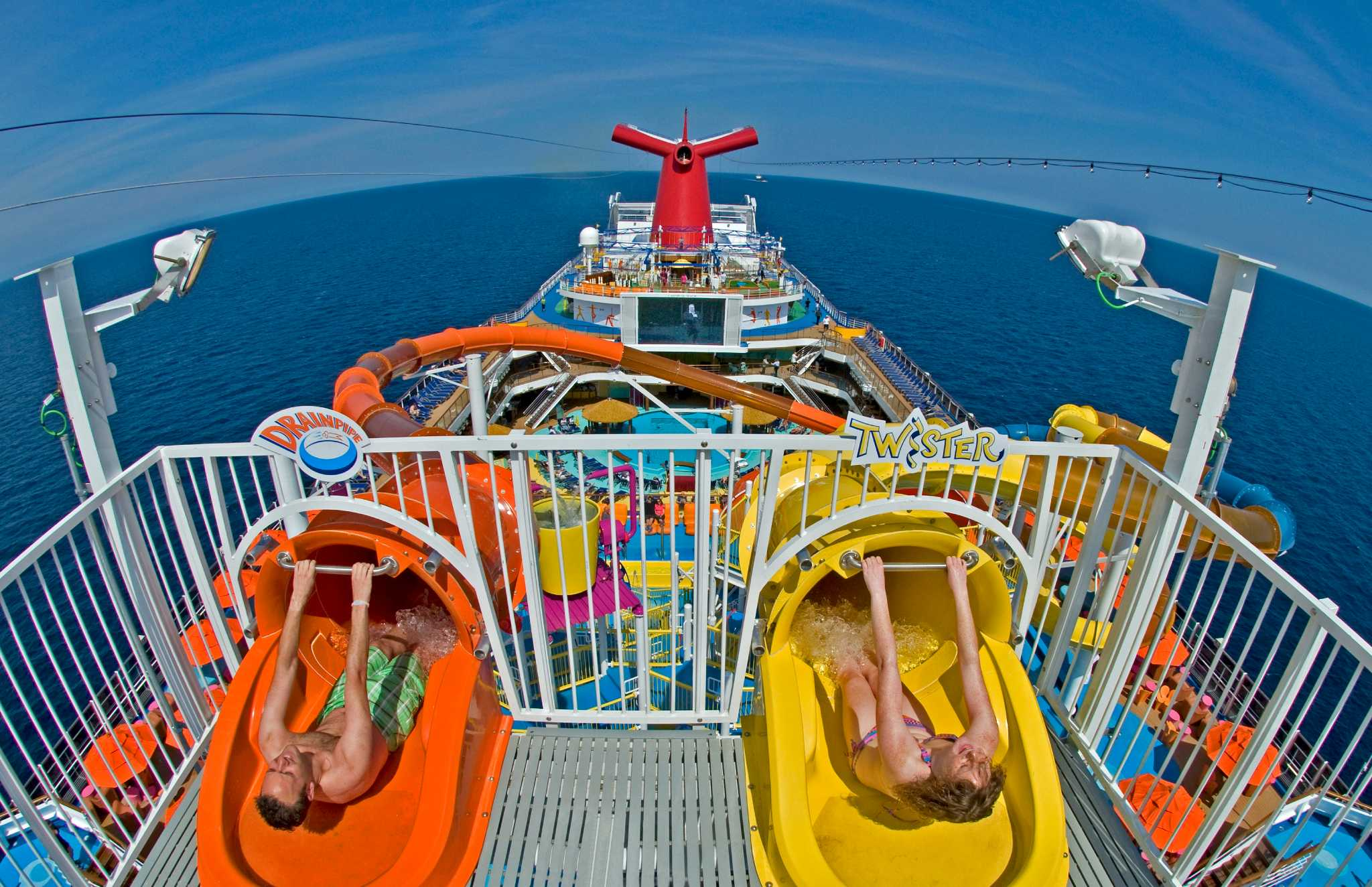Travel Trend Cruise Ships Wage Water Slide War