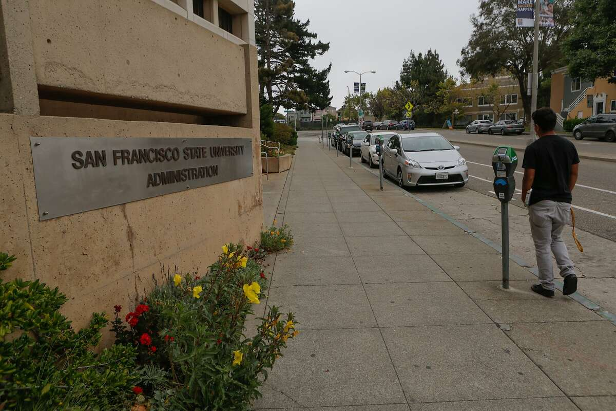 File photo of Holloway Avenue by the San Francisco State University administration building in San Francisco, California.