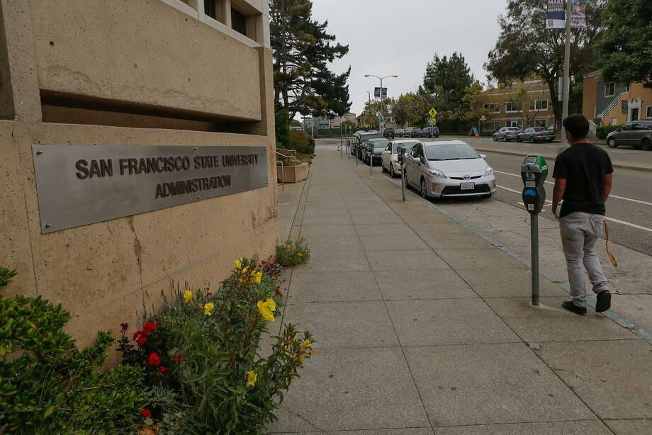 File photo of Holloway Avenue by the San Francisco State University administration building in San Francisco, California. Photo: Loren Elliott, The Chronicle