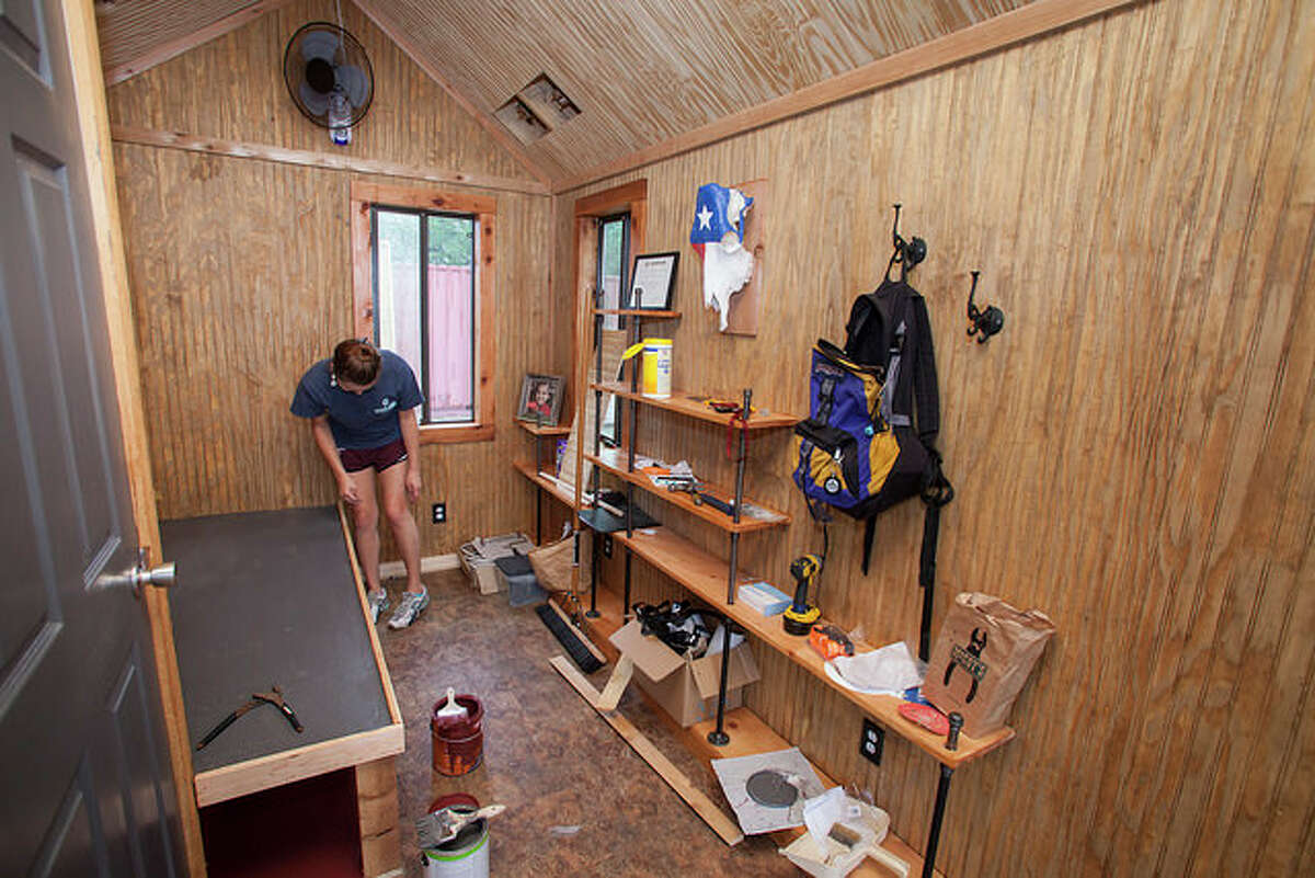 Students at Texas A&M University built tiny homes for the homeless as part of their curriculum.