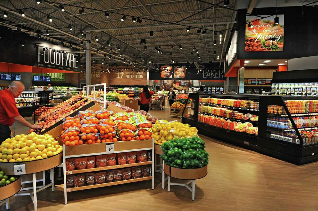 Produce department in the Capital Region's first Market 32, the rebranded  Price Chopper on Wednesday