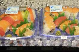 Sushi in the prepared foods section in the Capital Region's first Market 32, the rebranded Price Chopper on Wednesday, June 17, 2015 in Wilton, N.Y. (Lori Van Buren / Times Union)