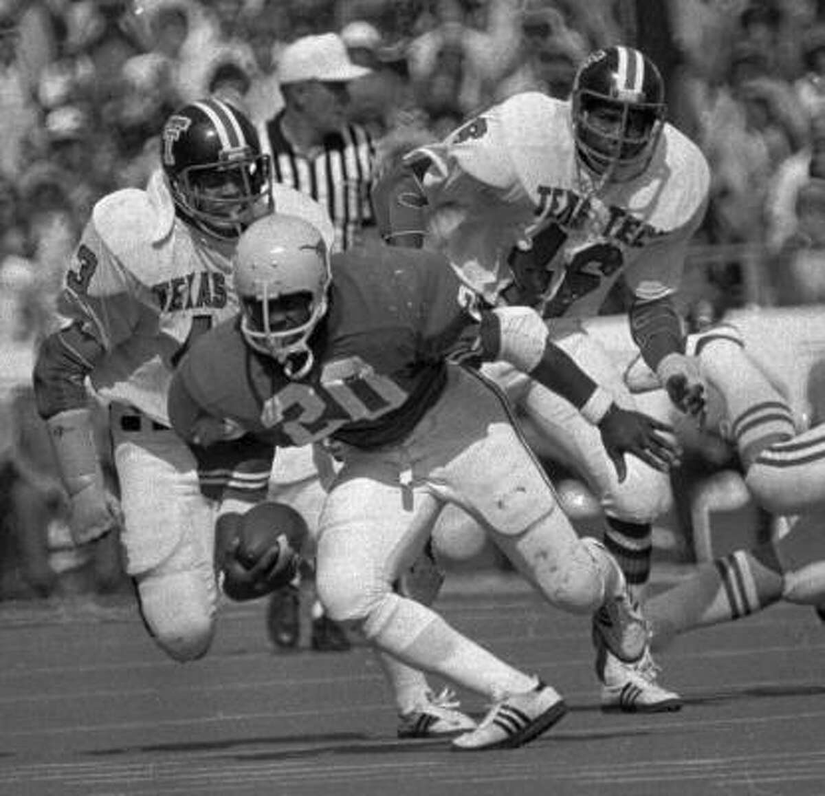 Earl Campbell , running back Era: 1974-77. The case for: One of the most punishing runners in college football history, the