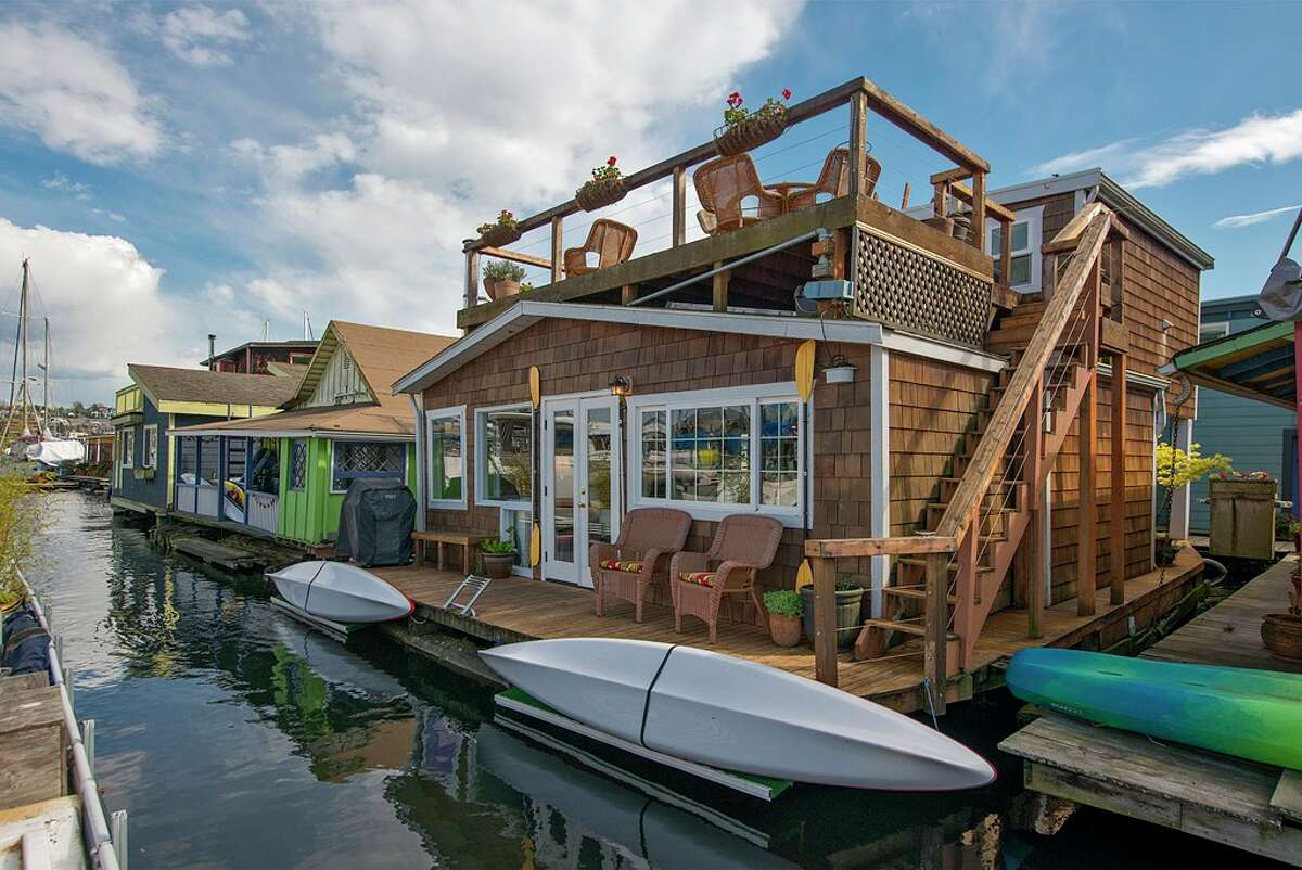 The floating home, located at The second bedroom in 2420 Westlake Ave. N., is listed for $948,000. The two bedroom, one-and-a-half bathroom home has just over 1,000 square feet of living space. The floating home was built in 1929 but was completely remodeled in 2008. You can see the full listing here.