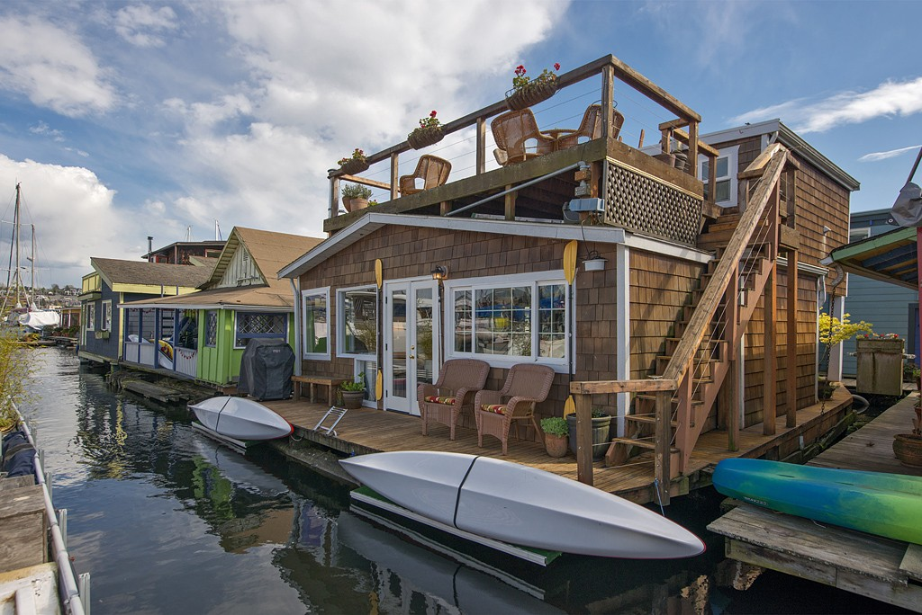 Westlake floating home 948k - Floating house seattle ...