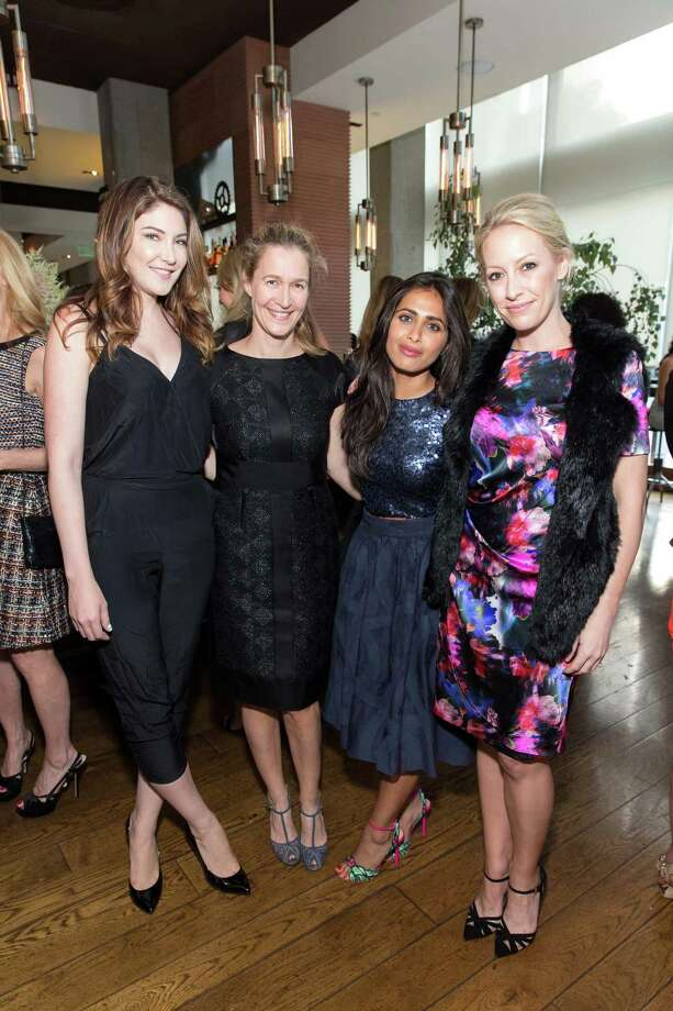 Melody McCloskey, Nina Stanford, Ruzwana Bashir and Julia Hartz at ELLE's Women in Tech party at Prospect on June 16, 2015. Photo: Drew Altizer Photography,  Drew Altizer Photography / © 2015 Drew Altizer Photography