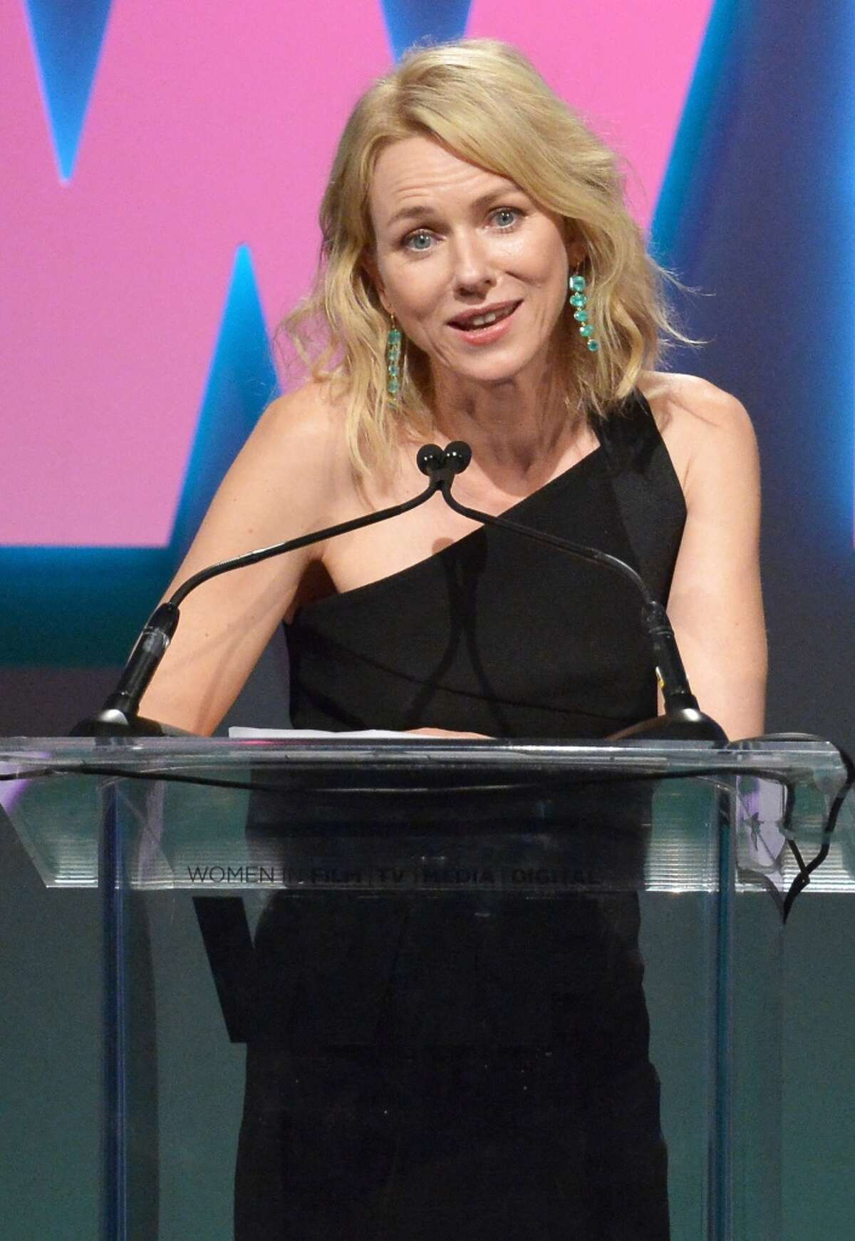 Actress Naomi Watts speaks onstage during the Women In Film 2015 Crystal + Lucy Awards Presented by Max Mara, BMW of North America, and Tiffany & Co. at the Hyatt Regency Century Plaza on June 16, 2015 in Century City, California. (Photo by Charley Gallay/Getty Images for Women In Film)