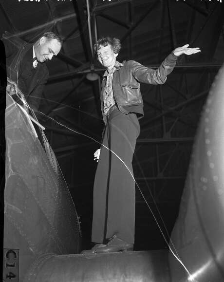 Amelia Earhart in Oakland Negative pack says 04/1937