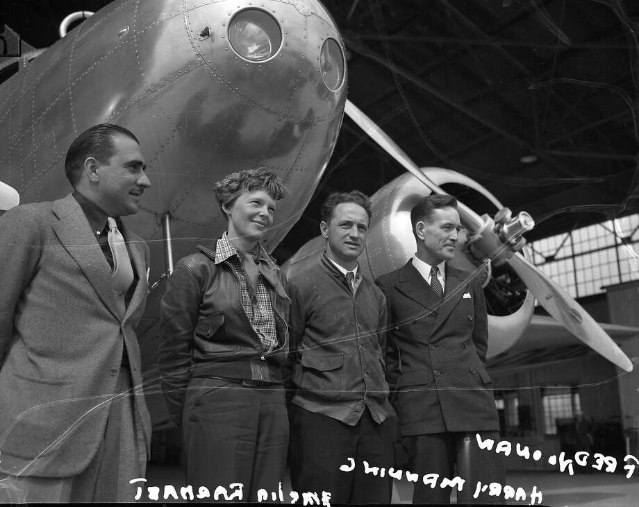 Amelia Earhart in Oakland Negative pack says 04/1937  Looks like staff photos  oursf1122_dignitaries Photo: Xx