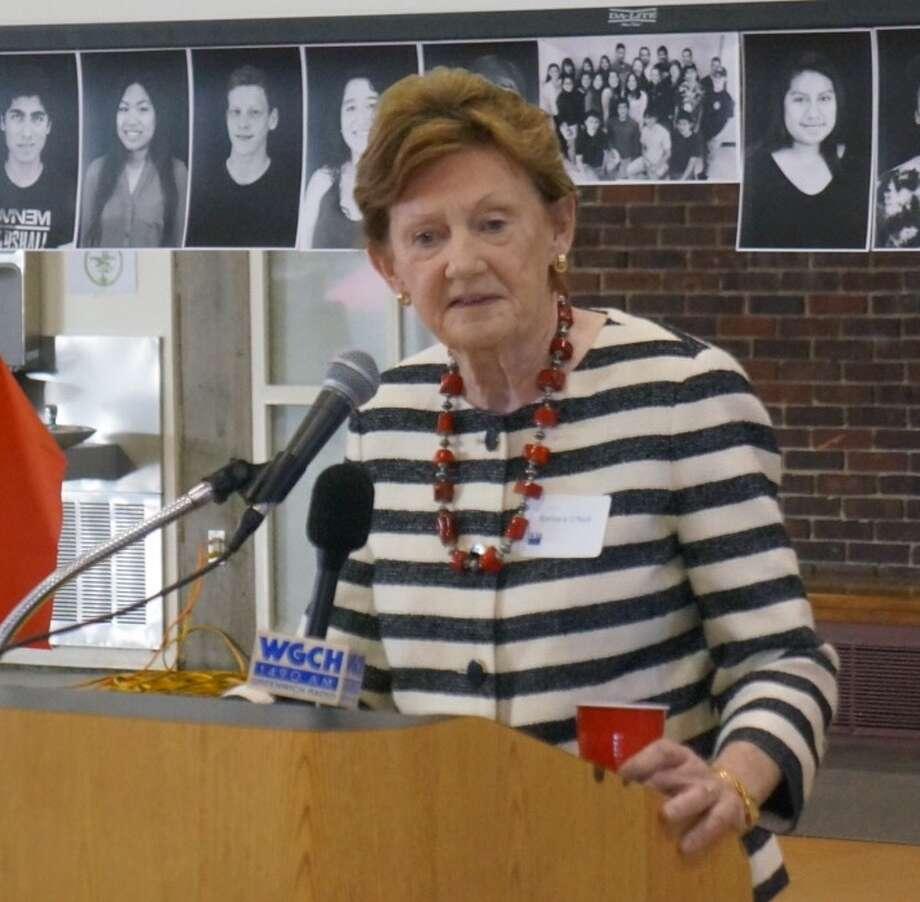 Board of Education Chairman Barbara O'Neill Photo: Paul Schott / Paul Schott / Greenwich Time