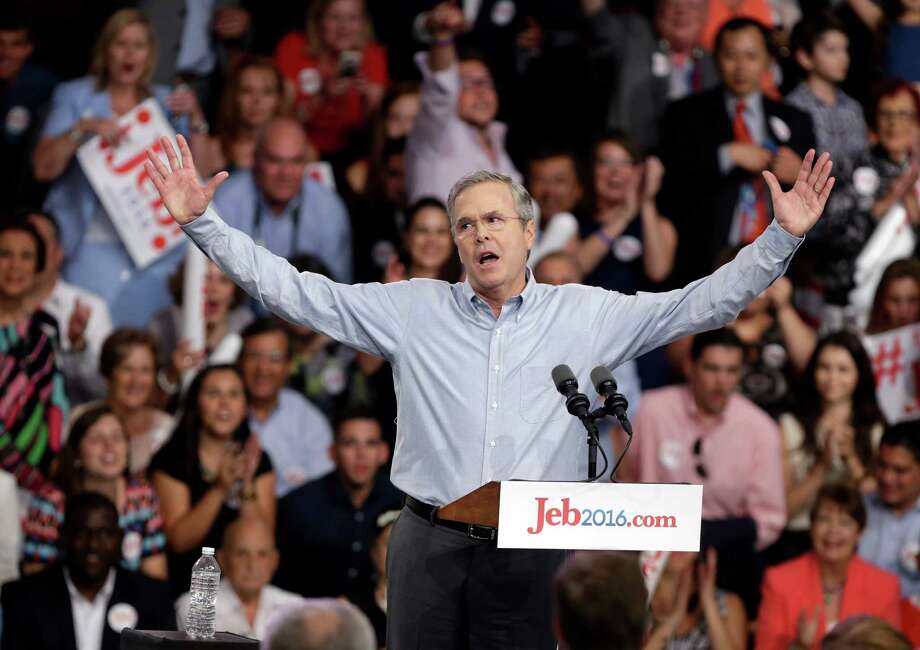 """Jeb Bush addresses the dynasty issue, indirectly and cleverly: """"The presidency,"""" he said, """"shouldn't be passed on from one liberal to the next."""" Photo: Lynne Sladky /Associated Press / AP"""