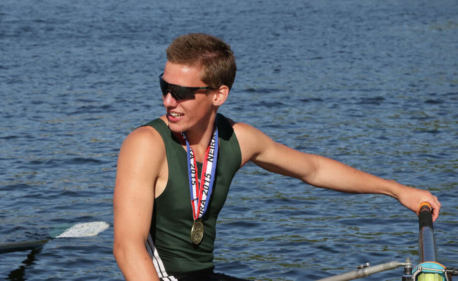 Greenwich native Gordon Johnson helped lead Deerfield Academy's varsity four boat to a bronze medal at the 2015 U.S. Rowing Youth National Championships in Sarasota, Fla. June 2015 Photo: Contributed Photo / Contributed Photo / Greenwich Time Contributed