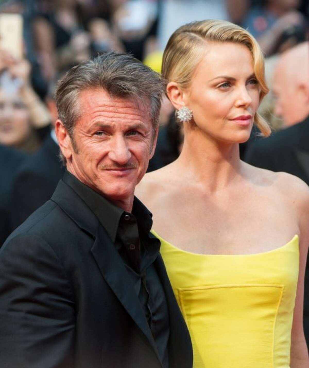 Sean Penn and Charlize Theron at the Cannes Film Festival in May 2015. (Photo by Samir Hussein/WireImage)