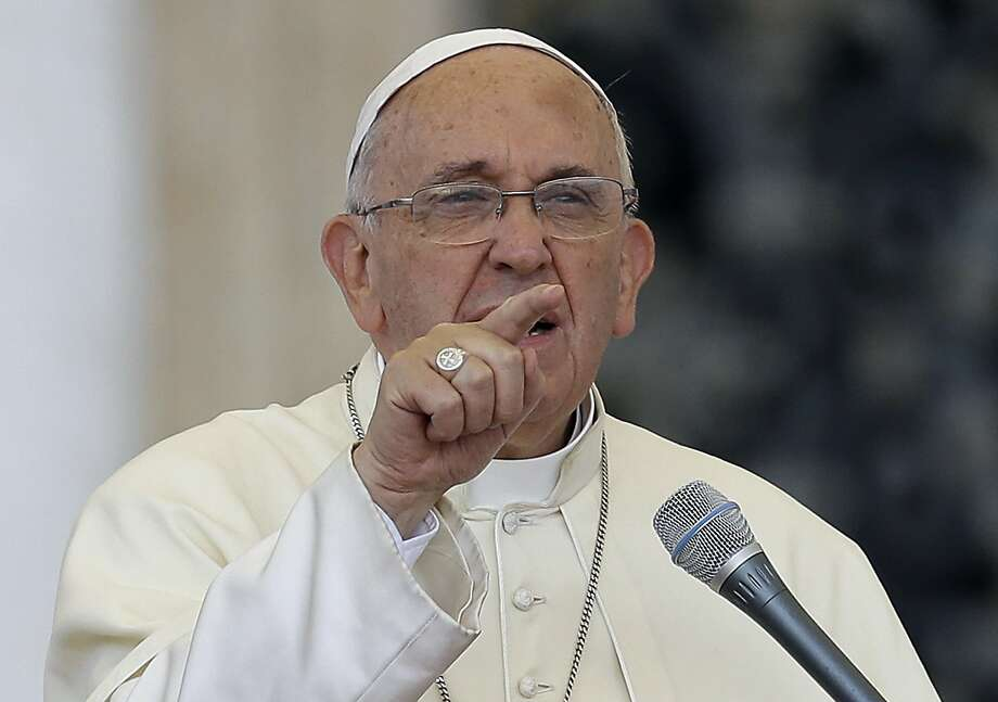 Pope Francis' is attempting to reframe climate change as more than an issue about science and politics — it's a moral issue, he declared. Photo: Gregorio Borgia, Associated Press