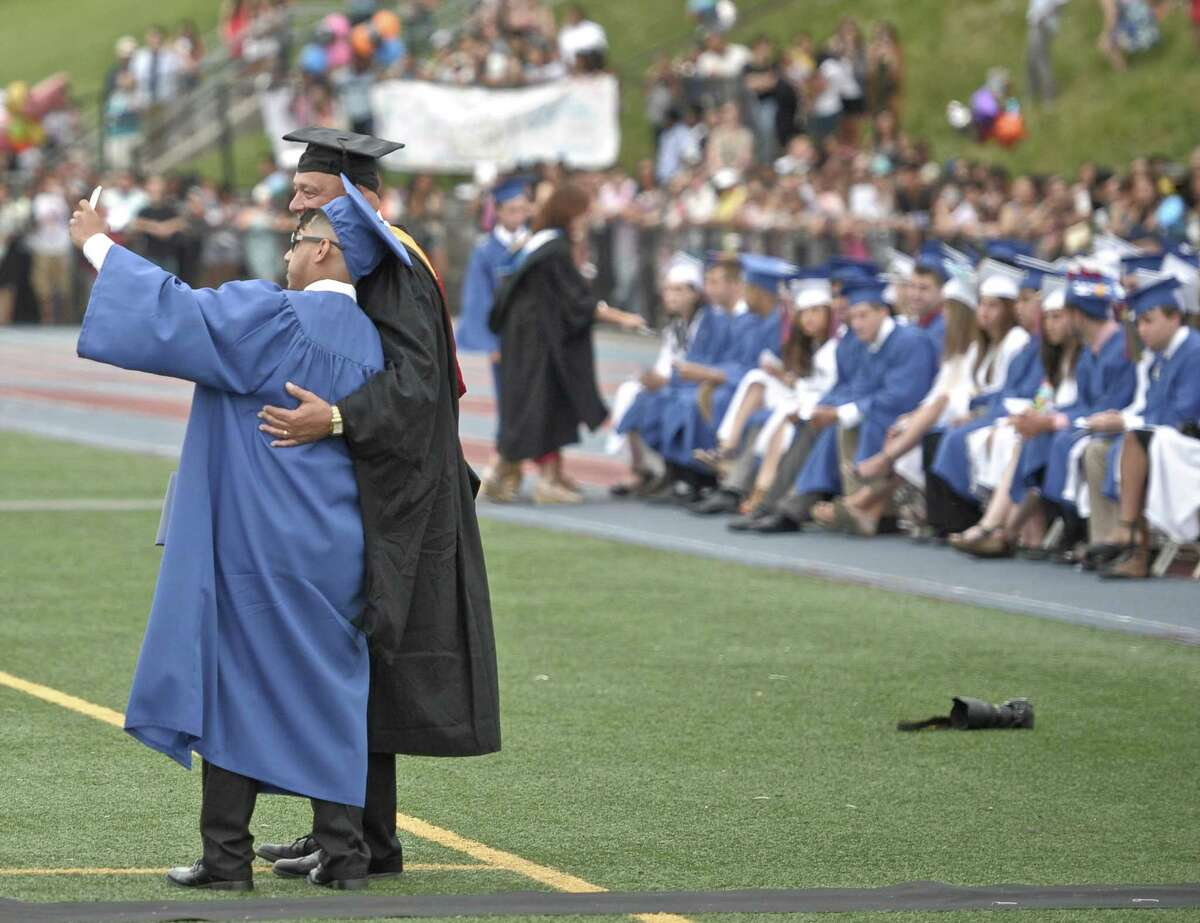 Photographs from the 2015 Danbury High School Commencement Exercises on Wednesday night, June 17, 2015, at Danbury High School, Danbury, Conn.
