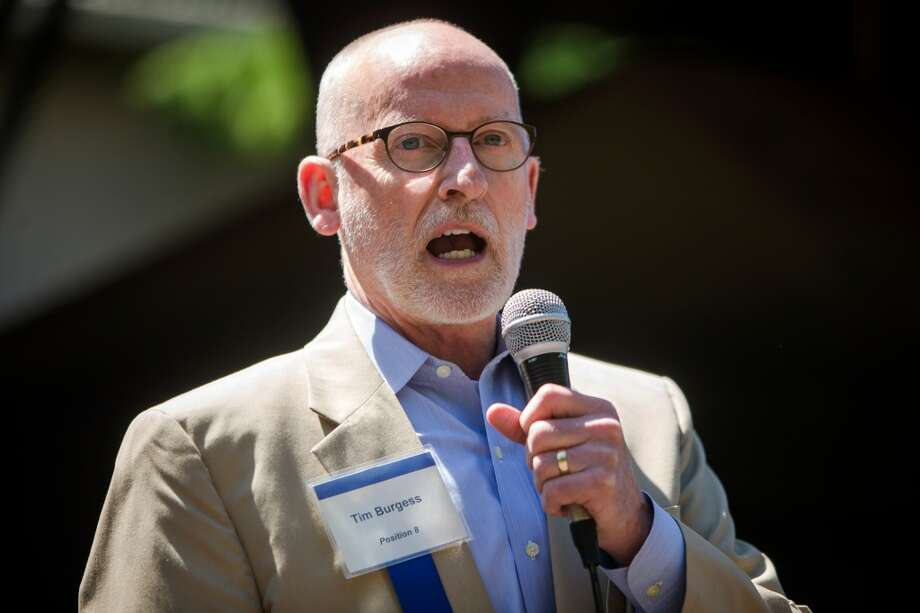 Tim Burgess speaks during a City Council candidates meet-and-greet Wednesday, June 17,  2015, at GasWorks Park in Seattle, Washington. (Jordan Stead, seattlepi.com) Photo: JORDAN STEAD, SEATTLEPI.COM