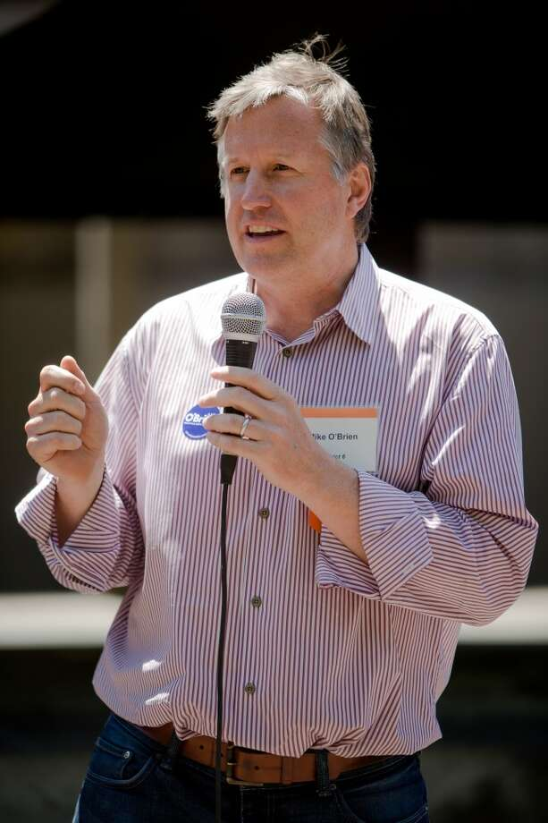 Mike O'Brien speaks during a City Council candidates meet-and-greet Wednesday, June 17,  2015, at GasWorks Park in Seattle, Washington. (Jordan Stead, seattlepi.com) Photo: JORDAN STEAD, SEATTLEPI.COM
