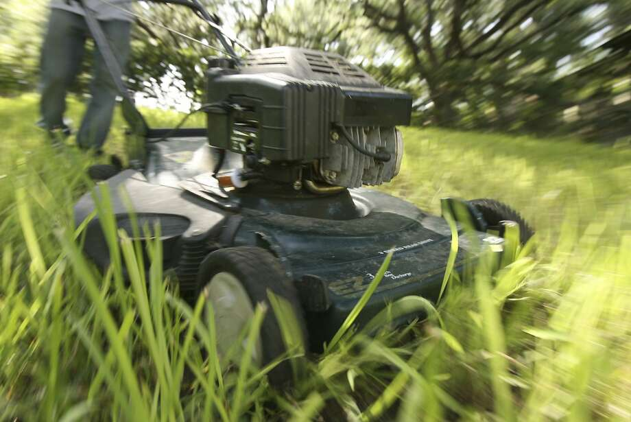 You buy a lawn mower...and then hire someone to mow the lawn. Photo: Robert McLeroy, EXPRESS-NEWS FILE PHOTO