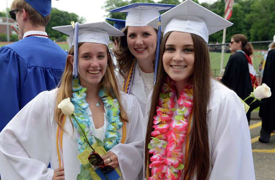 Fairfield Ludlowe High School holds its commencement ceremony Wednesday, June 17, 2015 on the school's Taft Field. Photo: Autumn Driscoll / Hearst Connecticut Media / Connecticut Post