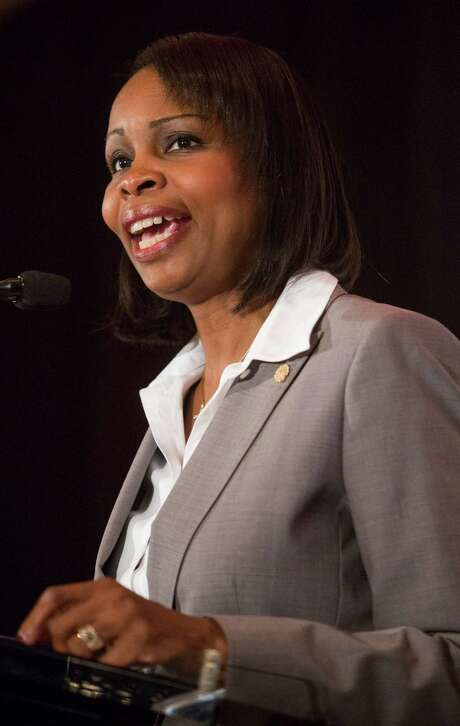 Mayor Ivy Taylor met with the San Antonio Police Union President Mike Helle on Thursday. She said she wants to quickly resolve stalled negotiations over a new labor contract. Photo: Ray Whitehouse /San Antonio Express-News / 2015 San Antonio Express-News