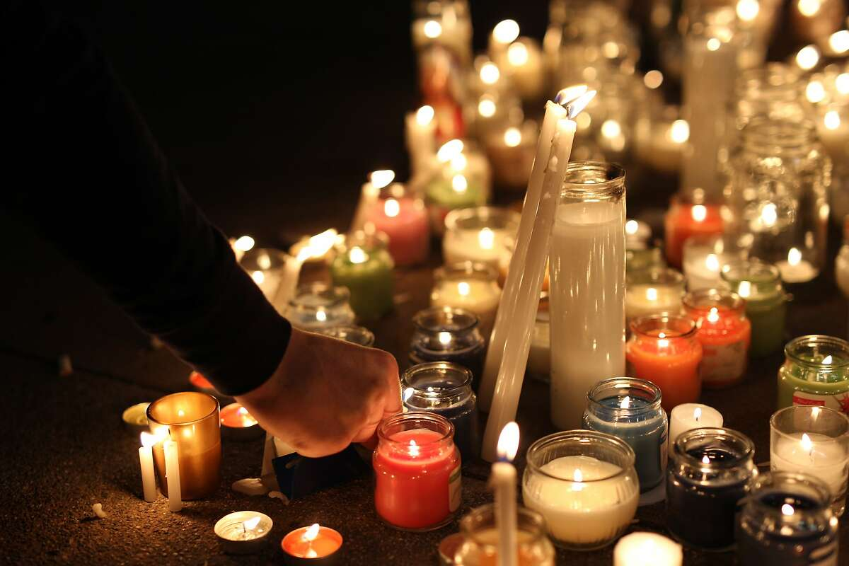 A candlelight vigil was held at Martin Luther King Jr. Civic Center Park in Berkeley, California, on Wednesday, June 17, 2015, in honor of the victims of the recent balcony collapse.