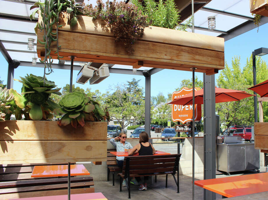 Super Duper Burgers in Mill Valley, above, features a front patio lined with succulents.. Photo: Stephanie Wright Hession / Stephanie Wright Hession / Special To The Chronicle
