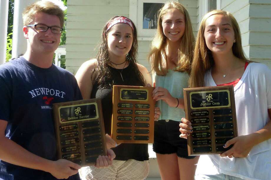 SafeRides recently honored four volunteers for their service to the organization. They are, from left, Nadav Friedman, Sarah Herbsman, Rachel Morrison and Anna Daytz. Photo: Contributed Photo / Contributed Photo / Westport News