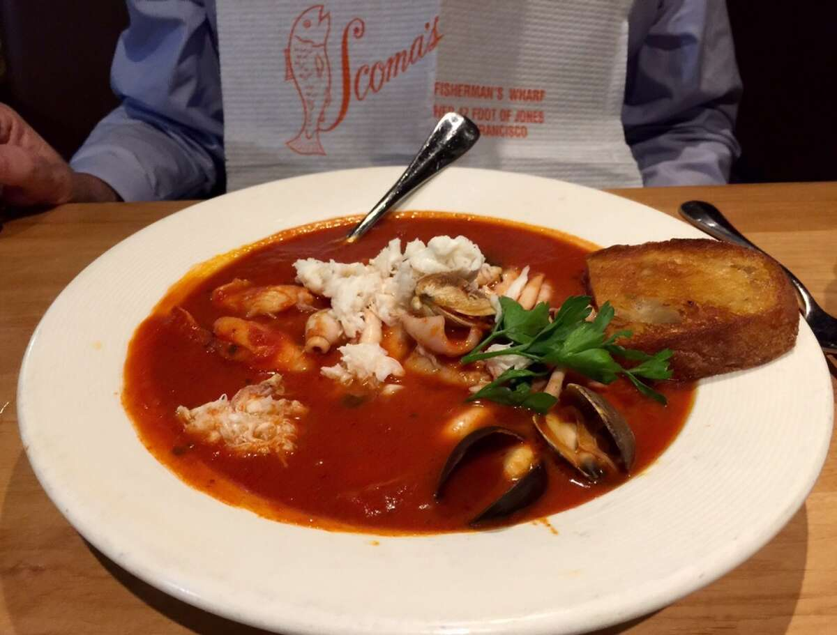 Scoma's is celebrating its 50th anniversary. One of the signature dishes is the Lazy-Man Cioppino ($39).
