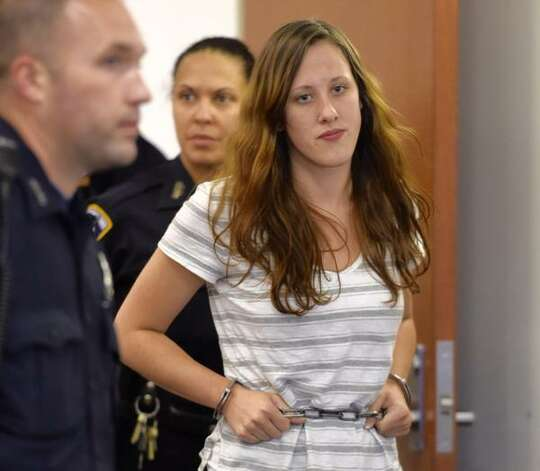 Abbey Slaga is arraigned on arson charges on Thursday, June 18, 2015, in Troy City Court. (Skip Dickstein/Times Union)