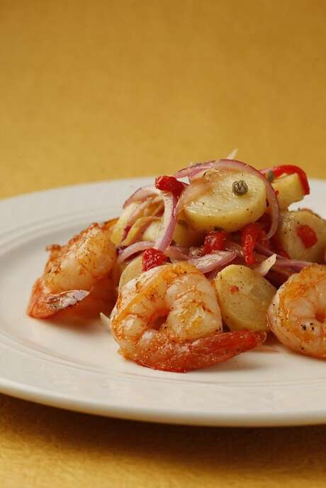 Smoky Skillet Shrimp with Spanish Potato Salad Photo: Craig Lee /Special To The Chronicle